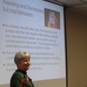 Dr. Martha Wetter during the DBT training at EKU on January 13, 2017.