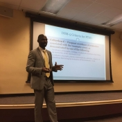 Dr. William Ajayi (Louis Stokes Cleveland VA Medical Center) presenting about hi