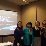 The EKU contingent at the 2018 American Association of Suicidology meeting