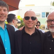 Martin Sellbom, Dustin Wygant, and Yossi Ben-Porath at the MMPI Meeting
